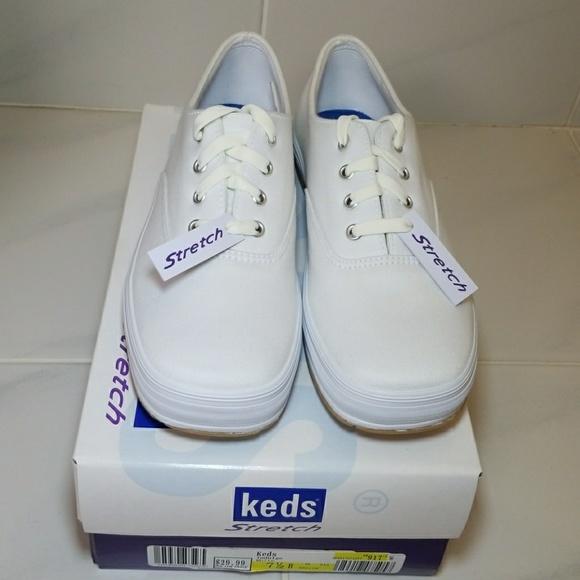 Keds Shoes | Indulge White Stretch Keds